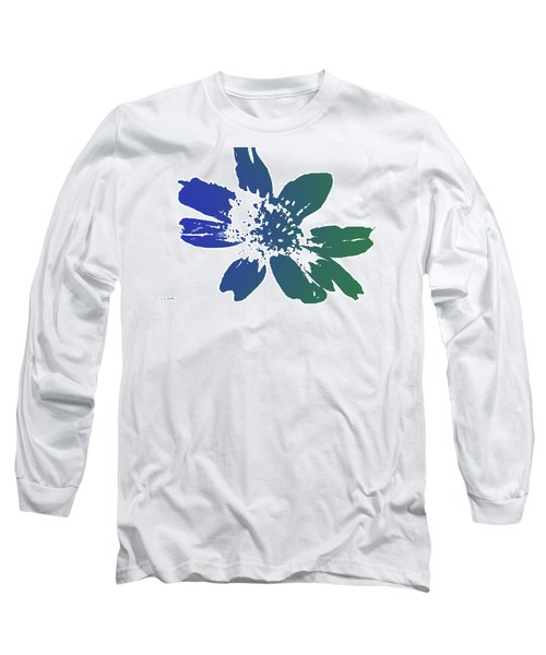 Blue In Bloom Long Sleeve T-Shirt