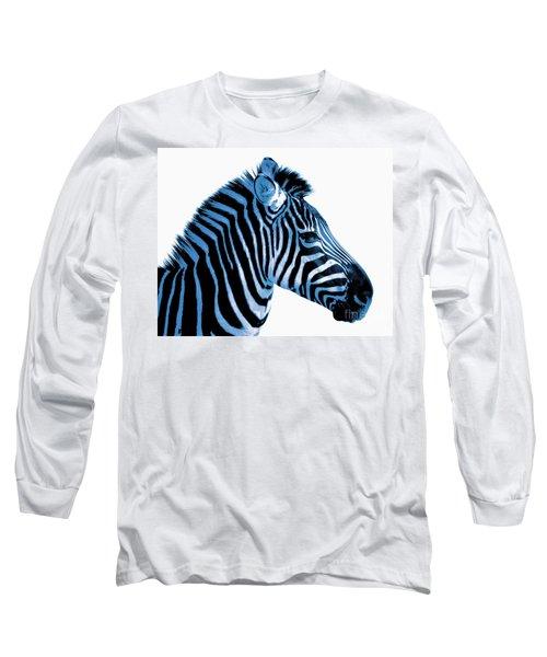 Long Sleeve T-Shirt featuring the photograph Blue Zebra Art by Rebecca Margraf