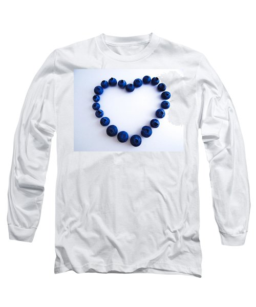 Long Sleeve T-Shirt featuring the photograph Blueberry Heart by Julia Wilcox