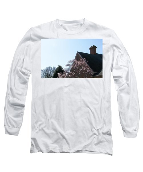 Long Sleeve T-Shirt featuring the photograph Brick And Blossom by Pamela Hyde Wilson