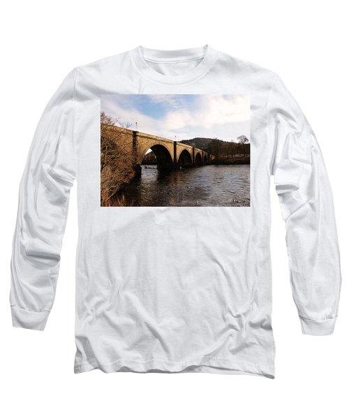 Long Sleeve T-Shirt featuring the photograph Bridge Across River Tay by Lynn Bolt