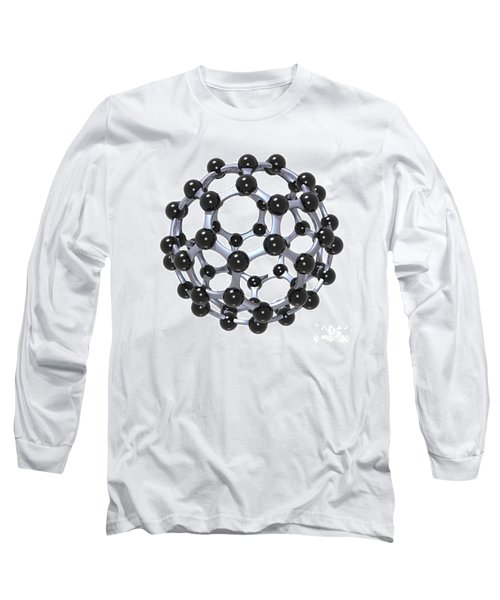 Buckminsterfullerene Or Buckyball C60 18 Long Sleeve T-Shirt by Russell Kightley