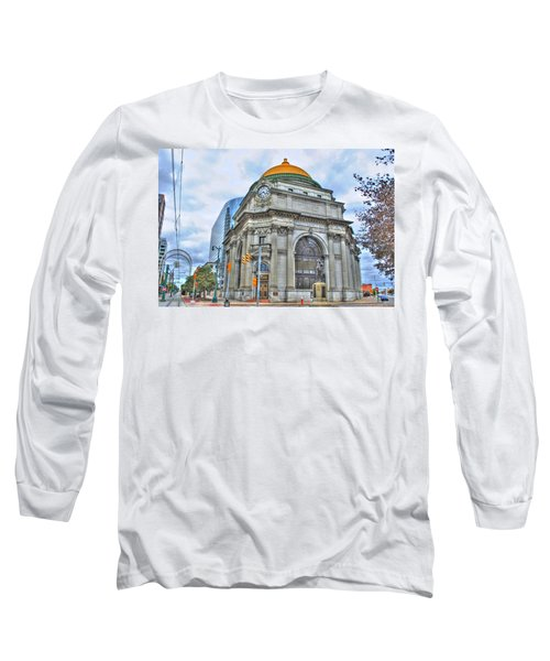 Long Sleeve T-Shirt featuring the photograph Buffalo Savings Bank  Goldome  M And T Bank Branch by Michael Frank Jr
