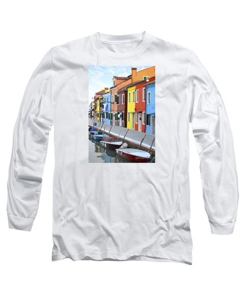 Long Sleeve T-Shirt featuring the photograph Burano Italy 2 by Rebecca Margraf