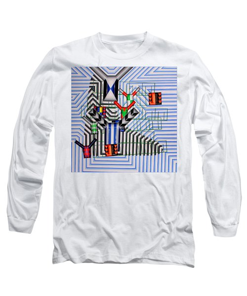 Long Sleeve T-Shirt featuring the painting Burwood Breeze by Mark Howard Jones