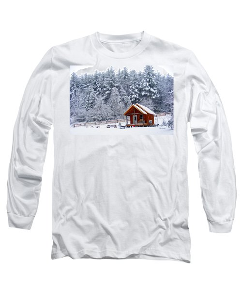 Cabin In The Snow Long Sleeve T-Shirt