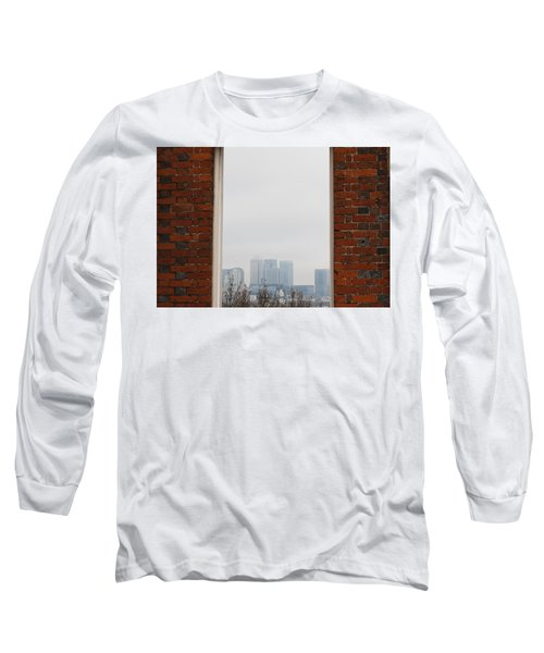Long Sleeve T-Shirt featuring the photograph Canary Wharf View by Maj Seda