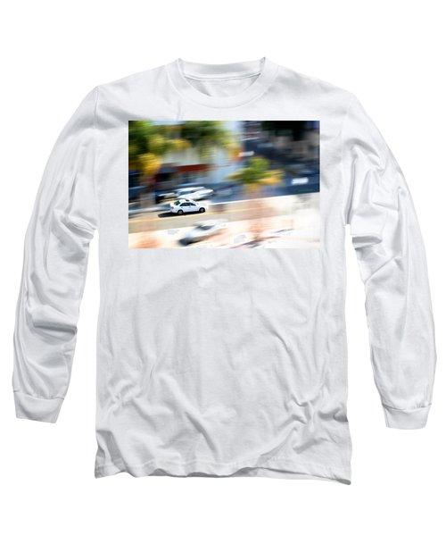 Car In Motion Long Sleeve T-Shirt by Henrik Lehnerer