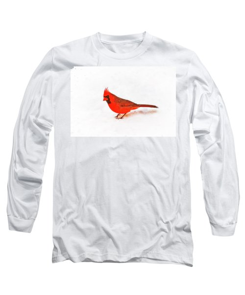 Long Sleeve T-Shirt featuring the photograph Young Cardinal's Curiosity by Tamyra Ayles