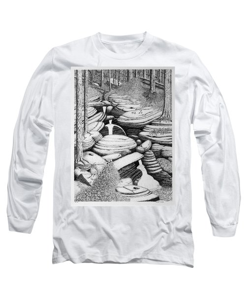 Cascade In Boulders Long Sleeve T-Shirt by Daniel Reed