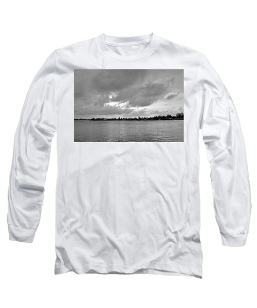 Long Sleeve T-Shirt featuring the photograph Channel View by Sarah McKoy
