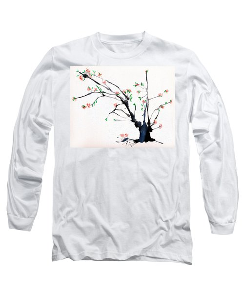 Cherry Tree By Straw Long Sleeve T-Shirt