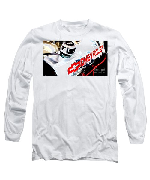 Long Sleeve T-Shirt featuring the digital art Chevy Power by Tony Cooper