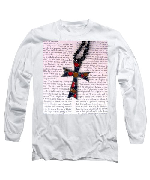 Long Sleeve T-Shirt featuring the jewelry Christian  Cross by Cynthia Amaral