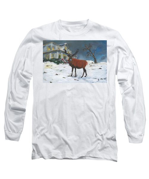 Christmas Elk Long Sleeve T-Shirt