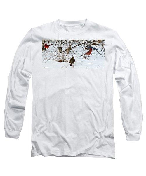 Christmas Feast Long Sleeve T-Shirt by Joe Faherty