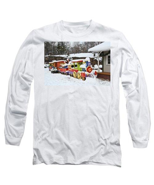 Christmas Train Long Sleeve T-Shirt