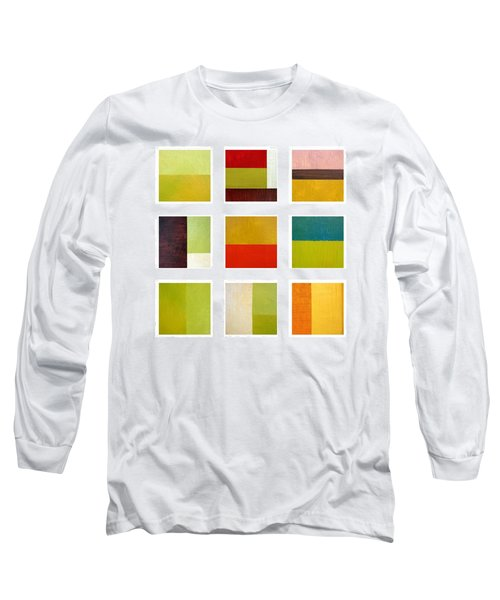 Color Study Abstract Collage Long Sleeve T-Shirt