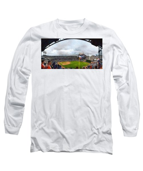 Comerica Park Home Of The Detroit Tigers Long Sleeve T-Shirt