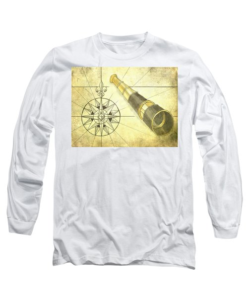 Compass And Monocular Long Sleeve T-Shirt