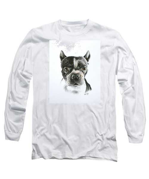 Long Sleeve T-Shirt featuring the drawing Cooper by Mike Ivey