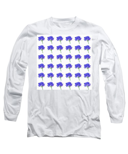 Long Sleeve T-Shirt featuring the digital art Cornflowers by Barbara Moignard