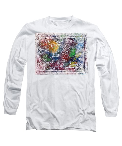 Long Sleeve T-Shirt featuring the painting Cosmos by Alys Caviness-Gober