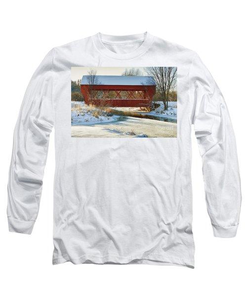 Covered Bridge Long Sleeve T-Shirt by Eunice Gibb