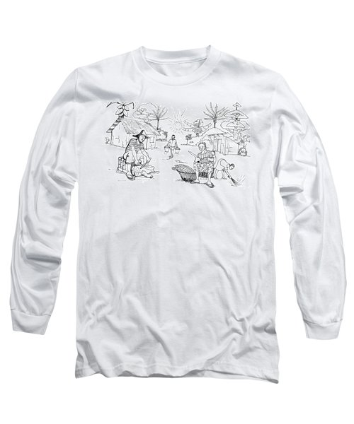 Daily Life In South And Center Cameroon 03 Long Sleeve T-Shirt by Emmanuel Baliyanga