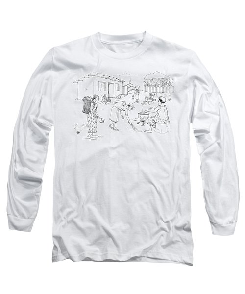 Daily Life In South And Center Cameroon 10 Long Sleeve T-Shirt by Emmanuel Baliyanga