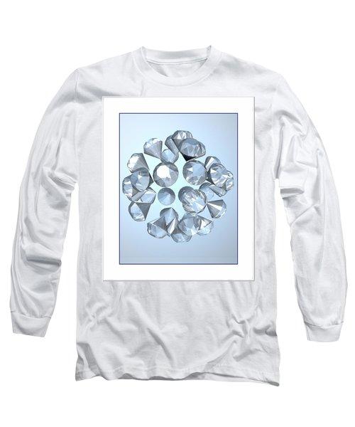 Long Sleeve T-Shirt featuring the digital art Diamonds... by Tim Fillingim