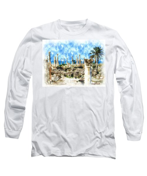 Do-00550 Ruins And Columns Long Sleeve T-Shirt by Digital Oil