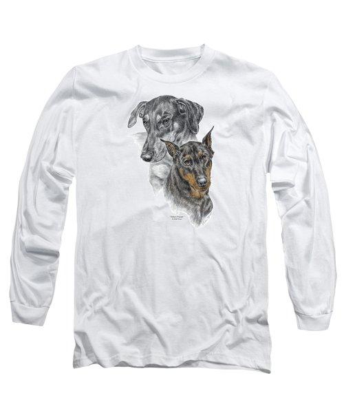 Dober-friends - Doberman Pinscher Portrait Color Tinted Long Sleeve T-Shirt