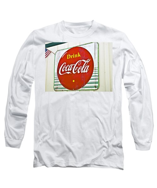 Drink Coca Cola Long Sleeve T-Shirt by Susan Leggett