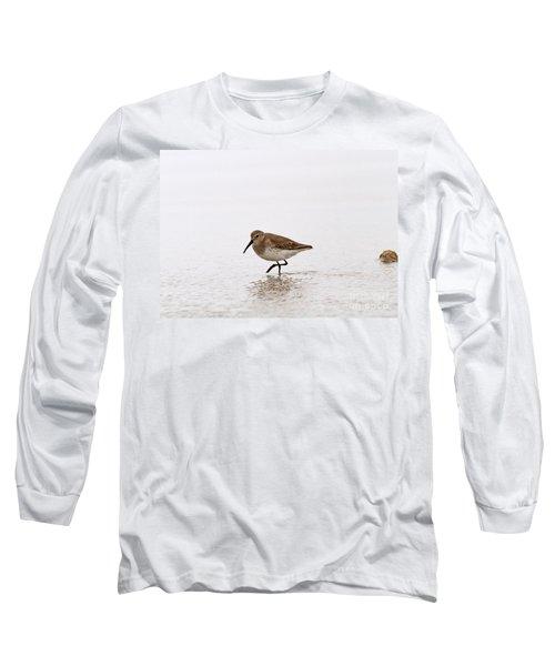 Dunlin In Winter Long Sleeve T-Shirt