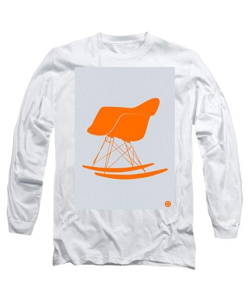 Eames Rocking Chair Orange Long Sleeve T-Shirt