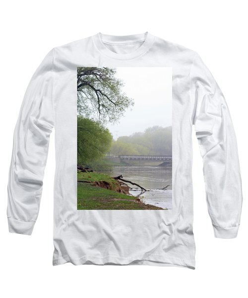 Long Sleeve T-Shirt featuring the photograph Early Spring Morning Fog by Kay Novy