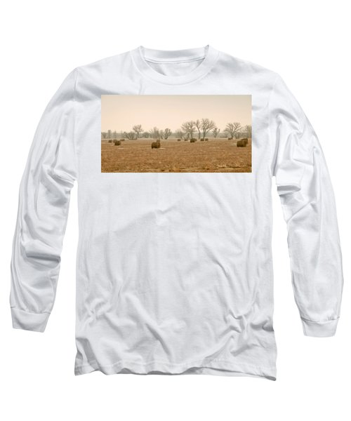 Earlying Morning Hay Bails Long Sleeve T-Shirt