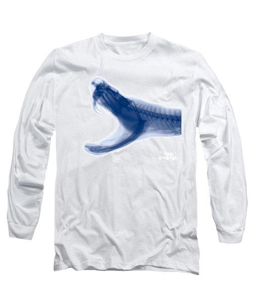 Eastern Diamondback Rattlesnake, X-ray Long Sleeve T-Shirt by Ted Kinsman