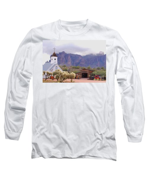 Long Sleeve T-Shirt featuring the photograph Elvis Memorial Chapel by Tam Ryan