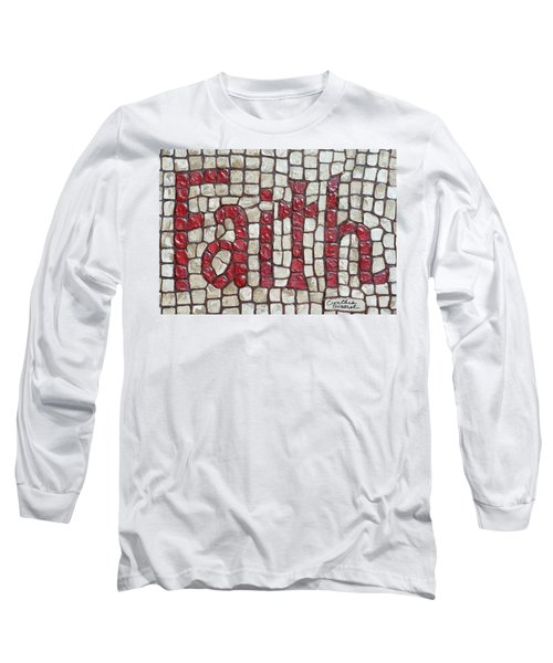 Long Sleeve T-Shirt featuring the painting Faith by Cynthia Amaral