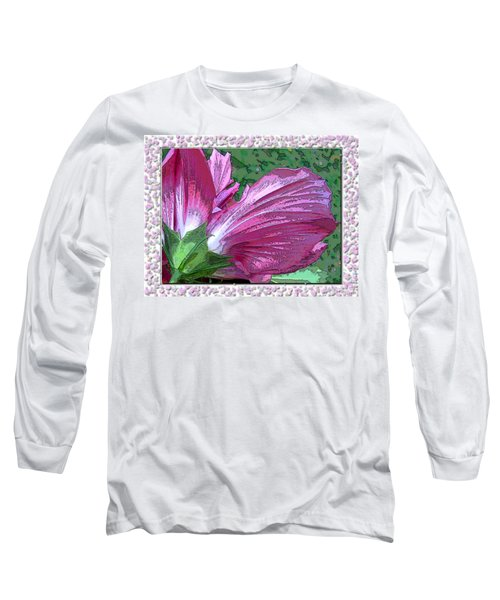 Long Sleeve T-Shirt featuring the digital art Fancy Finish by Debbie Portwood
