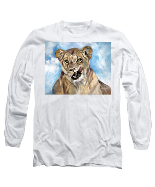 Long Sleeve T-Shirt featuring the painting Finger Lickin Good by Rae Andrews