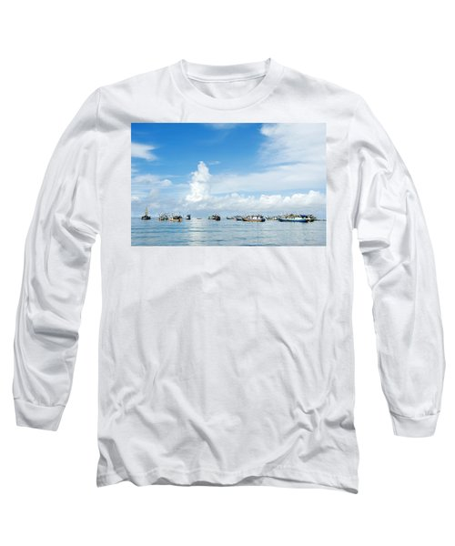 Fishing Boat Long Sleeve T-Shirt by Yew Kwang