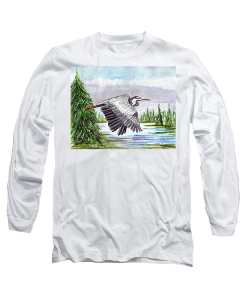 Long Sleeve T-Shirt featuring the painting Flight Of Fantasy by Clara Sue Beym
