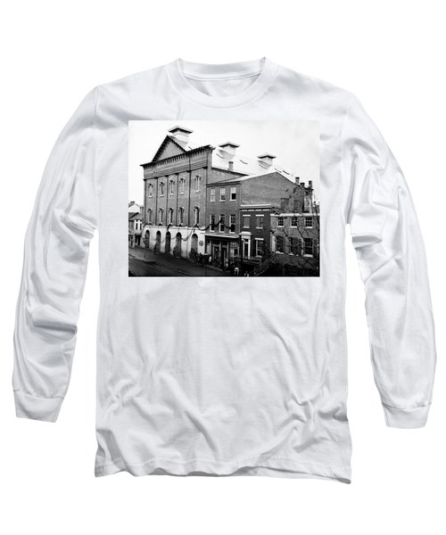 Long Sleeve T-Shirt featuring the photograph Fords Theater - After Lincolns Assasination - 1865 by International  Images