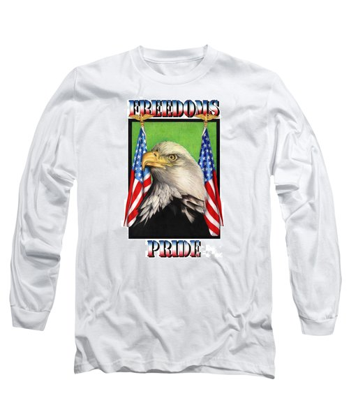 Freedoms Pride Long Sleeve T-Shirt by Sheryl Unwin