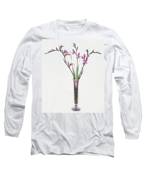 Freesias In Vase Long Sleeve T-Shirt by Susan Rovira