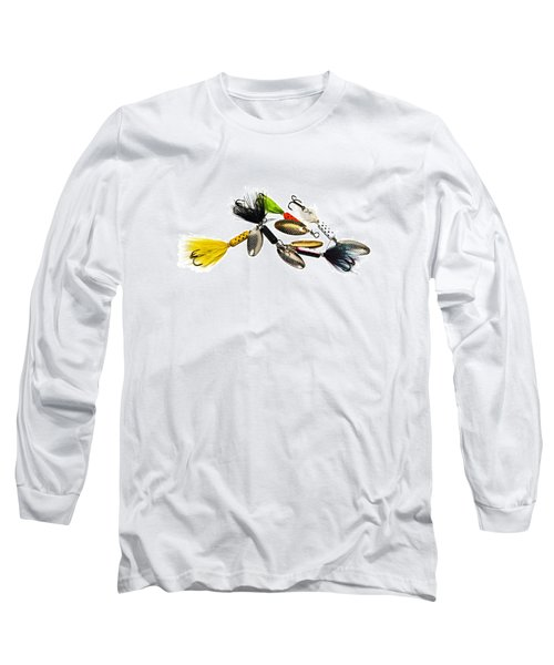 Long Sleeve T-Shirt featuring the photograph Freshwater Fishing Lures by Susan Leggett