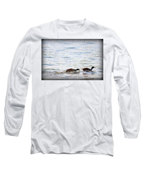 Long Sleeve T-Shirt featuring the photograph Frolicking Fun by Kathy  White